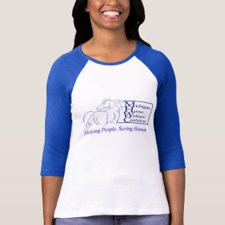 ミシガン州の馬の福祉の連合の野球のTシャツ Tシャツ