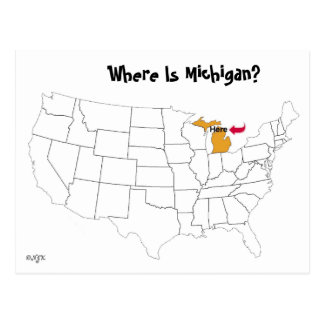 ミシガン州はどこにありますか。 ポストカード