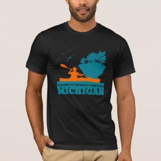 ミシガン州へようこそ (MI)-色のロゴ Tシャツ