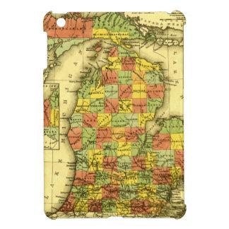 ミシガン州ショーの本当の忠誠MIの1853鮮やかな地図 iPad MINIケース