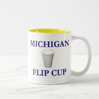 ミシガン州フリップコップのTシャツ ツートーンマグカップ