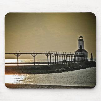 ミシガン州都市インディアナの灯台 マウスパッド