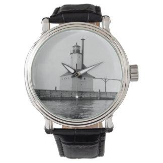 ミシガン州都市東の灯台 腕時計