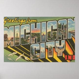 ミシガン州都市、インディアナ-大きい手紙場面 ポスター