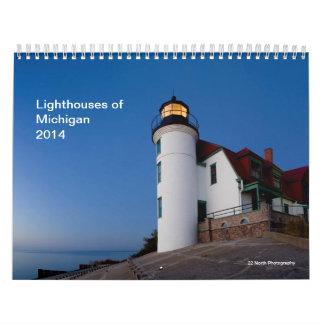 ミシガン州2014年の灯台 カレンダー