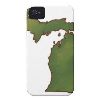 ミシガン州4の地図 Case-Mate iPhone 4 ケース