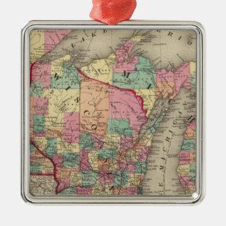 ミシガン州、ミネソタおよびウィスコンシン メタルオーナメント