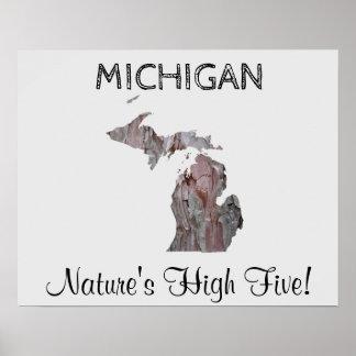 ミシガン州-性質の高い5ポスター ポスター
