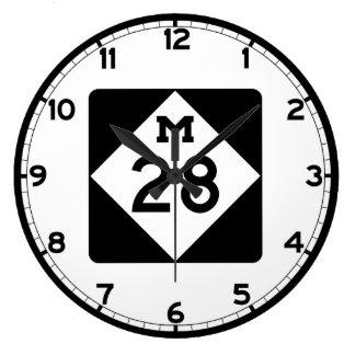 ミシガン州M-28 ラージ壁時計