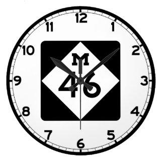 ミシガン州M-46 ラージ壁時計