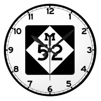 ミシガン州M-52 ラージ壁時計