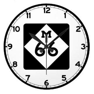 ミシガン州M-66 ラージ壁時計