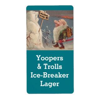 ミシガン州Yooperのトロールの家の醸造ビールラベル 発送ラベル