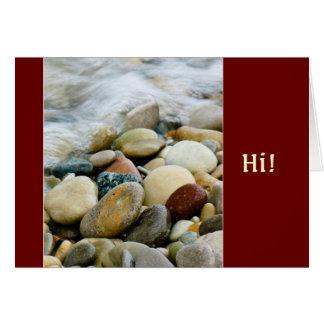 ミシガン湖のビーチの石I カード
