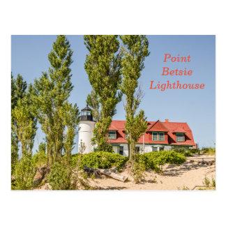 ミシガン湖のポイントBetsieの灯台 ポストカード