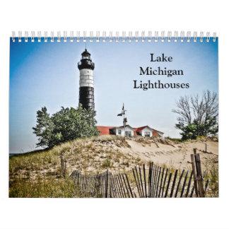 ミシガン湖の灯台 カレンダー