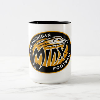 ミシガン湖のMinxのコーヒー・マグ ツートーンマグカップ