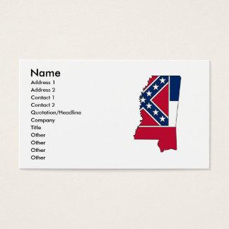ミシシッピーの旗の地図 名刺
