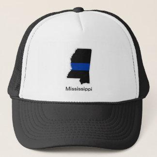 ミシシッピーの薄いブルーライントラック運転手の帽子 キャップ