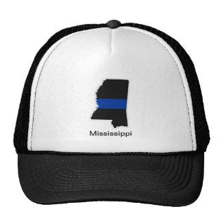 ミシシッピーの薄いブルーライントラック運転手の帽子 トラッカーキャップ