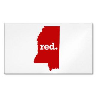 ミシシッピーの赤い州 マグネット名刺