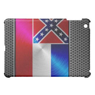 ミシシッピーは金属の旗にブラシをかけました iPad MINI CASE
