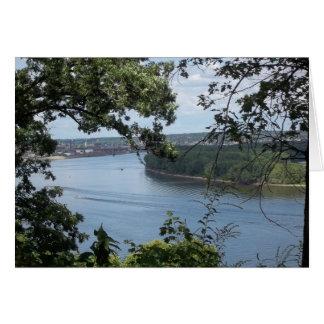 ミシシッピー川からのDubuqueアイオワ カード