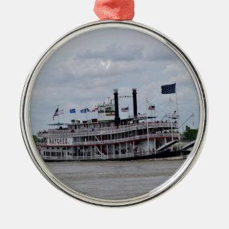 ミシシッピー川のボートニュー・オーリンズ メタルオーナメント