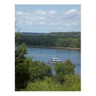 ミシシッピー川のボート ポストカード