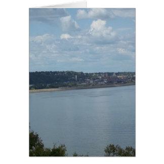 ミシシッピー川のDubuqueアイオワ市 カード