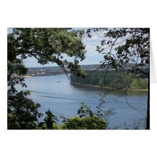 ミシシッピー川のDubuqueアイオワ カード