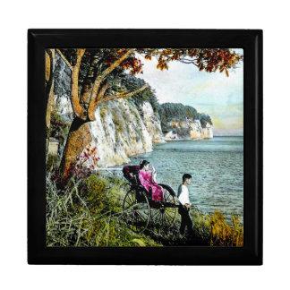 ミシシッピー湾の古い日本芸者のHonmokuの崖 ギフトボックス