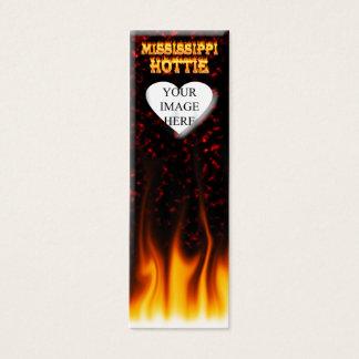 ミシシッピーHottieの火および赤い大理石 スキニー名刺