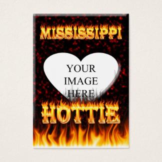 ミシシッピーHottieの火および赤い大理石 名刺