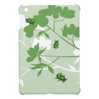 ミズキのデザインで幸運な緑の宝石のオオタマオシコガネ iPad MINIケース