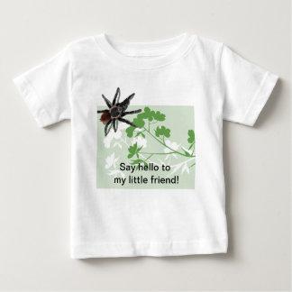 ミズキの花のおもしろいなワイシャツのタランチュラのくも ベビーTシャツ