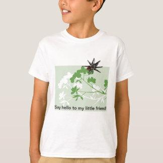 ミズキの花のタランチュラのくもはワイシャツをからかいます Tシャツ