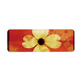 ミズキの花のラベル ラベル