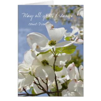 ミズキの花の5月の夢は本当を来ます カード