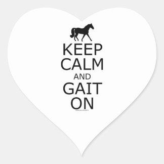 ミズーリのキツネの速歩馬は穏やかな足取りを保ちます ハートシール