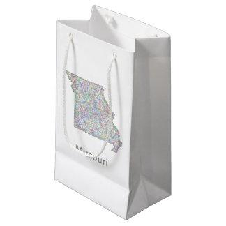ミズーリの地図 スモールペーパーバッグ