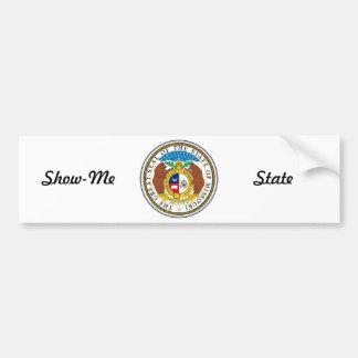 ミズーリの州のシールおよびモットー バンパーステッカー