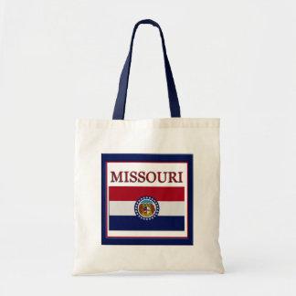 ミズーリの州の旗のデザインの予算のキャンバスのバッグ トートバッグ