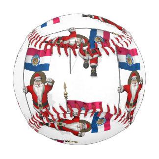ミズーリの旗を持つサンタクロース 野球ボール