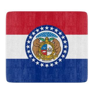 ミズーリの旗を持つ小さいガラスまな板 カッティングボード