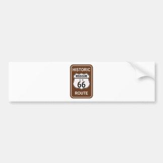 ミズーリの歴史的なルート66 バンパーステッカー