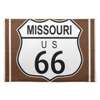 ミズーリの歴史的なルート66 ランチョンマット