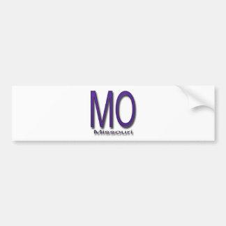 ミズーリの紫色 バンパーステッカー