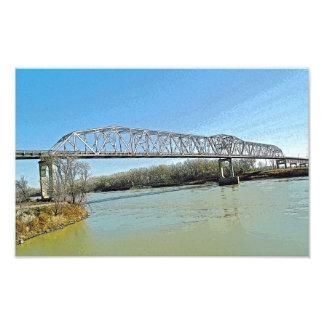 ミズーリ川のトラス橋 フォトプリント