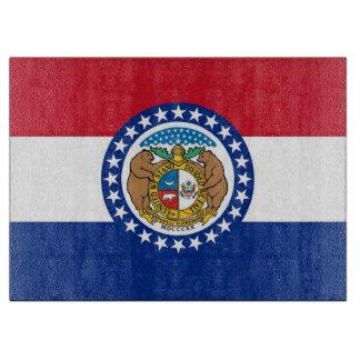 ミズーリ米国の旗を持つガラスまな板 カッティングボード